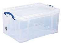 Plastic storage box 48 L Really Useful Box uncoloured