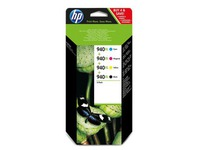 Pack 4 kleurencartridges HP 940 XL voor inkjetprinter