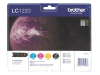 Pack met 4 kleurencartridges Brother LC1220 voor inkjetprinter