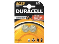 CR2032 lithium Duracell - Blister of 2 batteries
