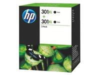 HP 301XL Pack van 2 cartridges zwart voor inkjetprinter