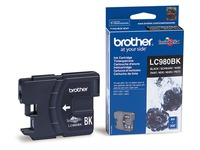 Cartridge zwart Brother LC980 BK