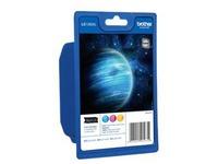 Brother LC1280XL Rainbow-Pack - 3 - hoge capaciteit - geel, cyaan, magenta - origineel - inktcartridge (LC1280XLRBWBP)