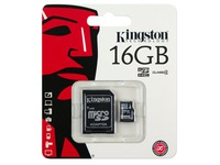 Kingston - flashgeheugenkaart - 16 GB - microSDHC