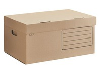 Archive cases in brown cardboard H 27 x W 55 x D 36 cm