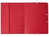 Mappen met 3 kleppen en elastiek Maxiburo rood