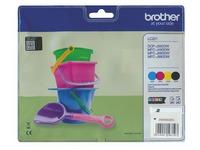 Brother LC22U pack met 4 cartridges - 1 x zwart en 3 x kleur voor inkjetprinter