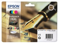 Epson 16XL Multipack - 4-pack - XL - black, yellow, cyan, magenta - original - ink cartridge (C13T16364022)