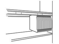 Set of 2 suspension file rails for cupboard Osaka