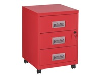 Budget filing cabinet 3 drawers in lacquered metal