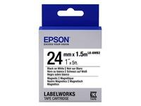 Epson LabelWorks LK-6WB2 - magnetische strip - 1 rol(len) (C53S656003)