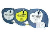 DYMO LetraTAG - labeltapepakket - 3 rol(len) - Rol (1,2 cm x 4 m)
