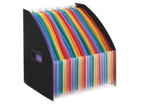 Magazine holders Viquel Rainbow black 24 divisions