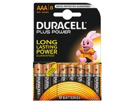 Alcaline battery AAA LR3 Duracell Plus Power - Blister de 8