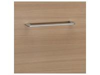 Mobile cabinet 2 drawers yellowish beech - light grey Quarta Plus