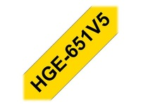 Brother HGE651V5 - gelamineerde tape - 5 rol(len)