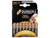 Duracell batterijen Plus Power AAA, blister van 16 stuks
