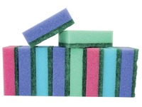 Aqualine schuurspons ft 8 x 5,5 x 2,8 cm, pak van 10 stuks