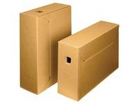Loeff's boîte à archives City box 10+, ft 390 x 260 x 115 mm, brun/blanc, paquet de 50 pcs