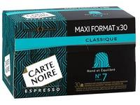 Capsules de café Carte Noire Classique n°7 - Boîte de 30