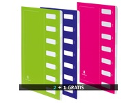 Pack of 2 sorting folders Extendos with 7 divisions + 1 for free