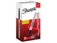 Sharpie marqueur permanente, fin, value pack de 24 pièces (20 + 4 gratuites), noir
