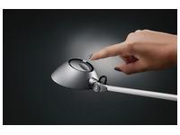 Hansa bureaulamp Blossom, LED-lamp, zilver