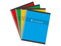 Notebook spiral binding Conquérant Sept 21 x 22 cm large squares 100 pages