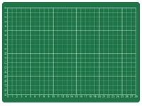 Snijmat Rillstab A4 300x220mm groen