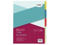 Multo intercalaires ft A4, perforation à 2, à 4 et à 23 trous, couleurs assorties par jeu
