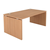 bureau hout bruin poten gaten onderstel