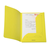 map geel flappen dossiermap documentbeschermer felle kleur flashy kleur a4 document kleppen geel gekartoneerd mapje met kleppen