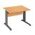 compacte werkpost in beuk met antraciet onderstel in L
